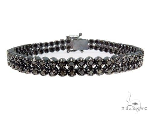 Prong Black Diamond Bracelet 44530 Diamond