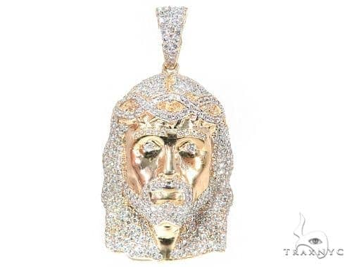 Prong Diamond Jesus Pendant 44526 Style