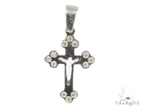 Bezel Diamond Cross Crucifix 44518 Diamond