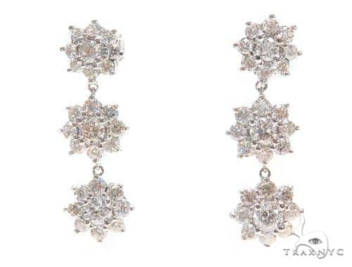 Anemone Prong Diamond Chandelier Earrings 44613 Style