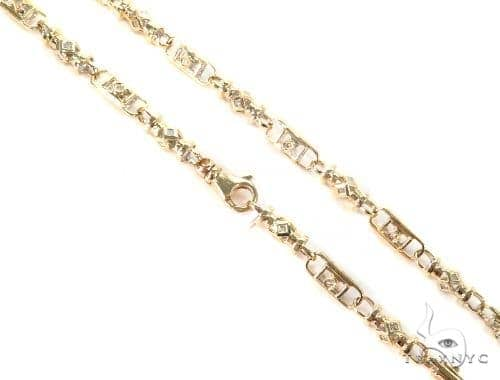 Bezel Diamond Chain 30 Inches 6mm 66.5 Grams 44703 Diamond