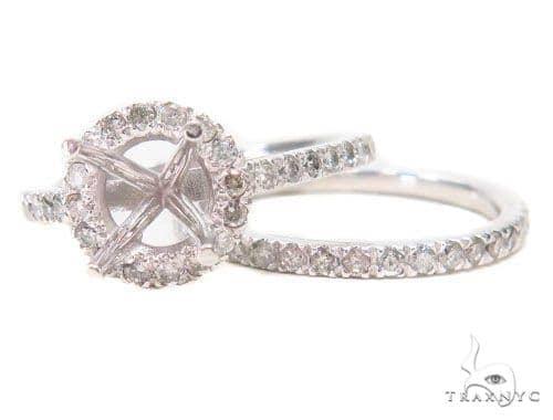 Prong Diamond Engagement Semi Mount Ring Set 44712 Engagement