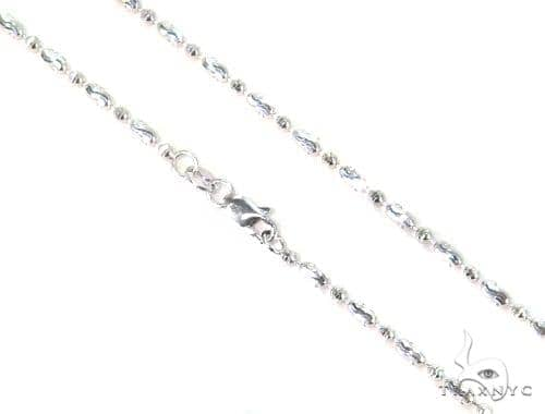14K White Gold Moon Cut Chain 16 Inches 1.8mm 5.3 Grams 44689 Gold