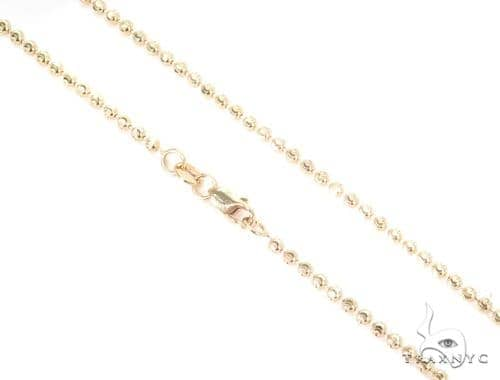 14K Yellow Gold Moon Cut Chain 16 Inches 2mm 5.3 Grams 44692 Gold