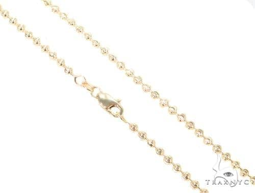 14K Yellow Gold Moon Cut Chain 16 Inches 2.5mm 8.5 Grams 44693 Gold
