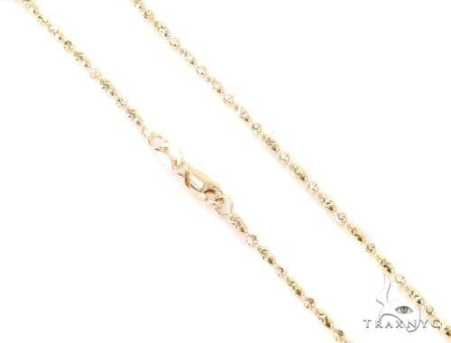 14K Yellow Gold Fancy Bead Chain 16 Inches 2mm 4.1 Grams 44695 Gold
