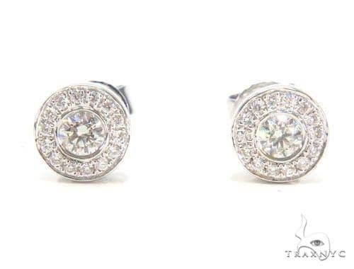 Halo Stud Diamond Earrings 44698 Style