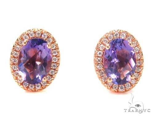 Gemstone Diamond Earrings 44746 Stone