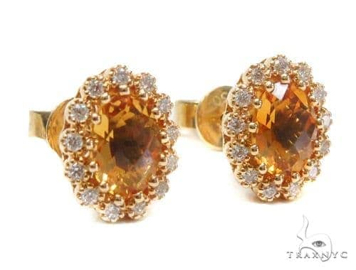 Gemstone Diamond Earrings 44747 Stone