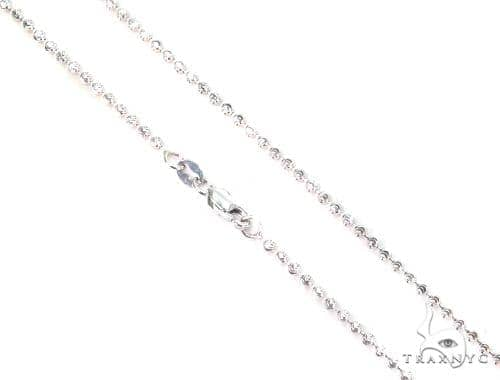 14K White Gold Moon Cut Chain 16 Inches 1.8mm 4.2 Grams 44749 Gold