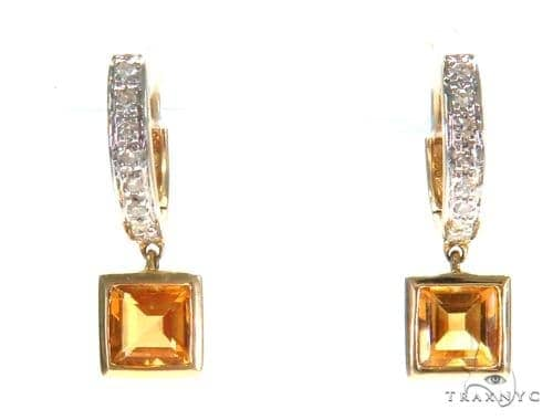 Gemstone Diamond Earrings 44804 Stone