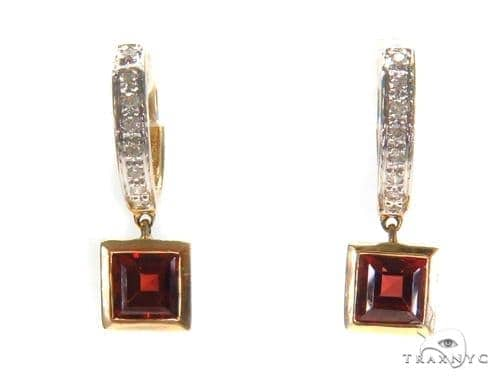 Gemstone Diamond Earrings 44751 Stone