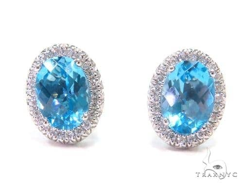 Gemstone Diamond Earrings 44753 Stone