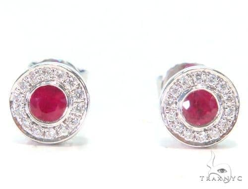 Gemstone Diamond Earrings 44754 Style