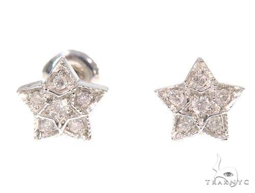 Mini Star Diamond Earrings 44983 Stone
