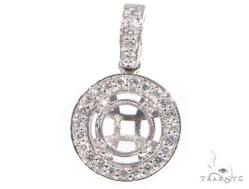 Prong Diamond Pendant 44992 Stone