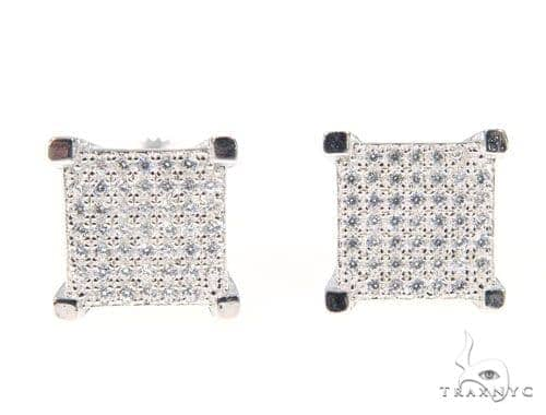 Silver Earrings 45061 Metal