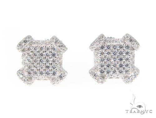 Silver Earrings 45033 Metal