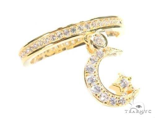 Moon Star Silver Ring 45068 Anniversary/Fashion