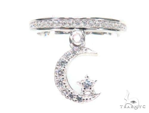 Moon Star Silver Ring 45070 Anniversary/Fashion
