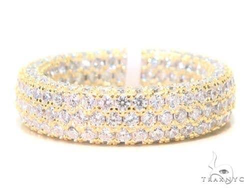 3 Row Silver Ring 45071 Anniversary/Fashion