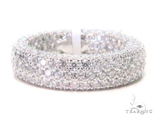 3 Row Silver Ring 45073 Anniversary/Fashion