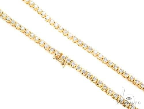 Prong Diamond Chain 24 Inches 6mm 95.5 Grams 45098 Diamond