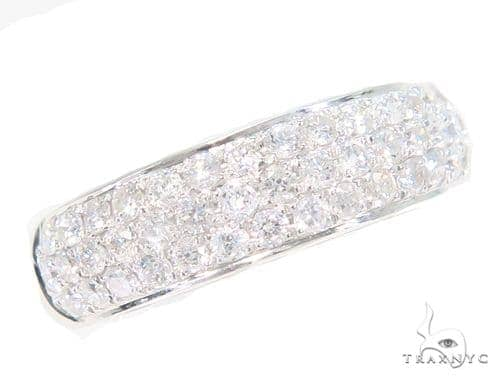 3 Row Diamond Wedding Band 45156 Wedding