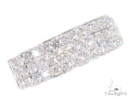 3 Row Diamond Wedding Band 45159 Wedding