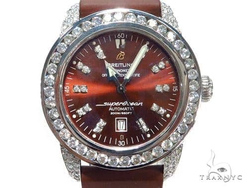 Breitling Diamond Superocean Automatic Watch 45222 Breitling