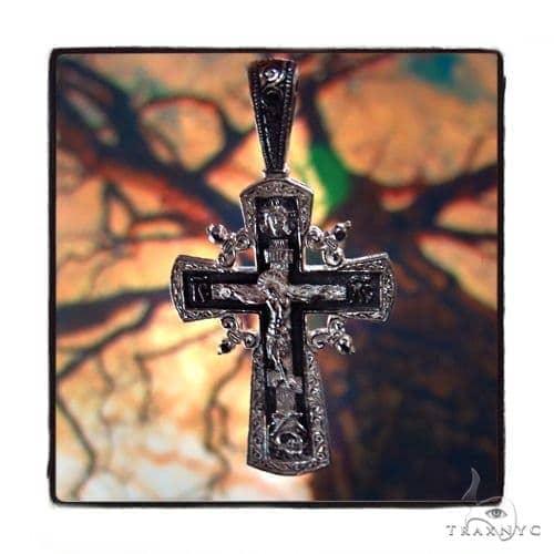 Reversible Classic Cross Crucifix 45260 Silver
