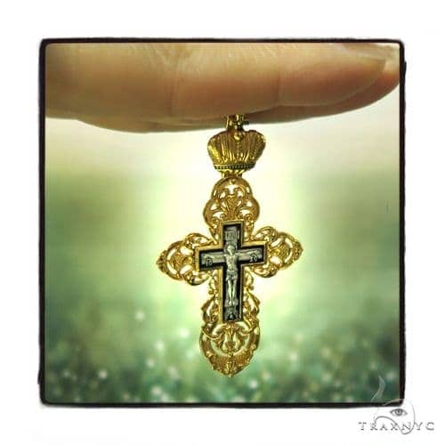 Reversible Classic Empire Silver Cross Crucifix 45257 Silver