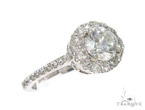 Pave Diamond Engagement Ring 45267 Engagement