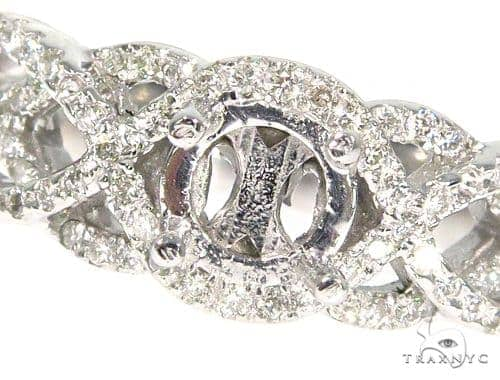 Infinity Diamond Engagement Semi Mount Ring 45281 Engagement