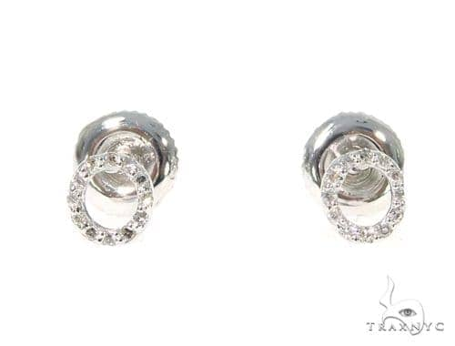 Prong Diamond Initial 'O' Earrings 32649 Stone