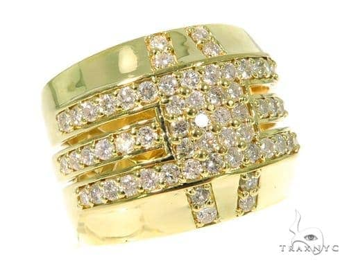 Mens 18k Buckled Up Ring Stone