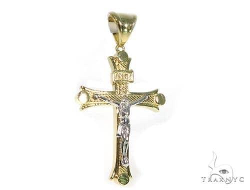 14K Yellow Gold Cross Crucifix 45434 Gold