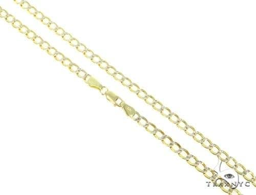 Mens 10k Hollow Yellow Gold Cuban/curb Chain 22 Inches 4.4mm 6.41 Grams 47048 Gold