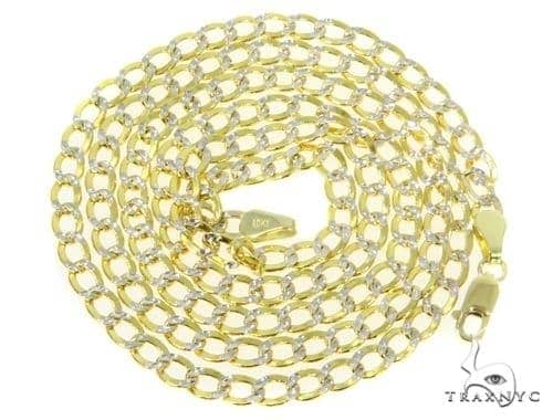 Mens 10k Hollow Yellow Gold Cuban/curb Chain 30 Inches 4.4mm 8.76 Grams 47052 Gold