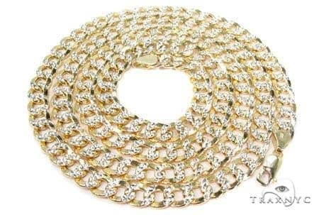 Mens 10k Hollow Yellow Gold Cuban/curb Chain 28 Inches 6.7mm 21.25 Grams 47063 Gold