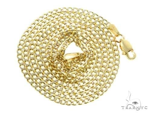 Mens 10k Hollow Yellow Gold Cuban/curb Chain 24 Inches 2mm 2.11 Grams 47069 Gold
