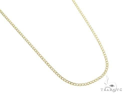 Mens 10k Hollow Yellow Gold Cuban/curb Chain 26 Inches 2mm 2.27 Grams 47070 Gold