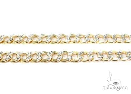 Mens 10k Hollow Yellow Gold Cuban/curb Chain 26 Inches 6.6mm 18.83 Grams 47087 Gold