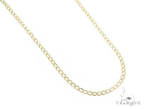 Mens 14k Solid Yellow Gold Cuban/curb Chain 22 Inches 3.3mm 8.25 Grams 47100 Gold