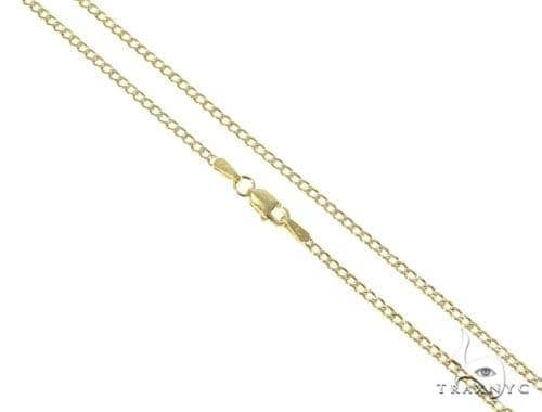 Mens 14k Solid Yellow Gold Cuban/curb Chain 26 Inches 2.1mm 5.38 Grams 47128 Gold