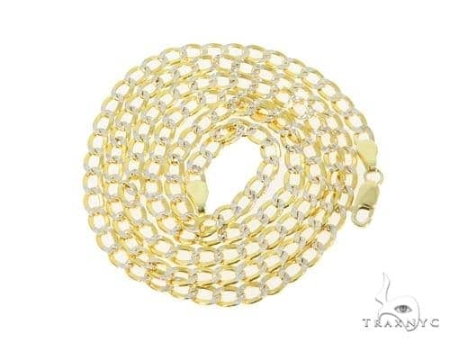 Mens 14k Solid Yellow Gold Cuban/curb Chain 24 Inches 3.7mm 9.00 Grams 47131 Gold