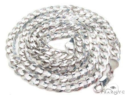 Mens 14k Solid White Gold Cuban/curb Chain 28 Inches 8.2mm 41.44 Grams 47161 Gold