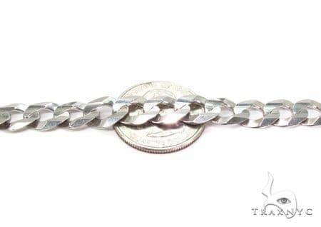 Mens 14k Solid White Gold Cuban/curb Chain 28 Inches 9.2mm 59.10 Grams 47163 Gold