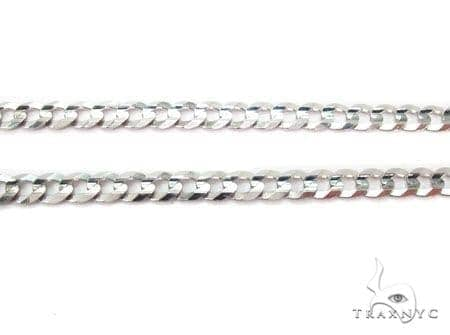 Mens 14k Solid White Gold Cuban/curb Chain 22 Inches 4.6mm 12.89 Grams 47170 Gold