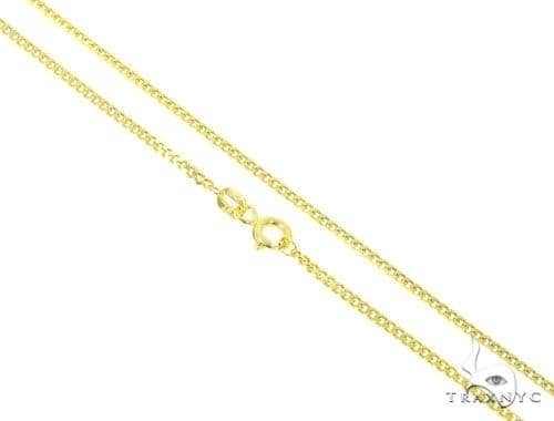 Mens 10k Hollow Yellow Gold Cuban/curb Chain 28 Inches 2mm 2.10 Grams 47222 Gold